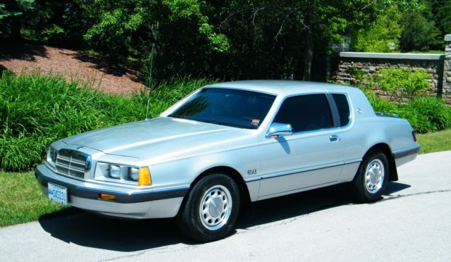 1986 Silver Mercury Cougar Coupe with Gray interior