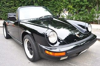 1986 Porsche 911 Carrera Cabriolet, Low Miles, California Car