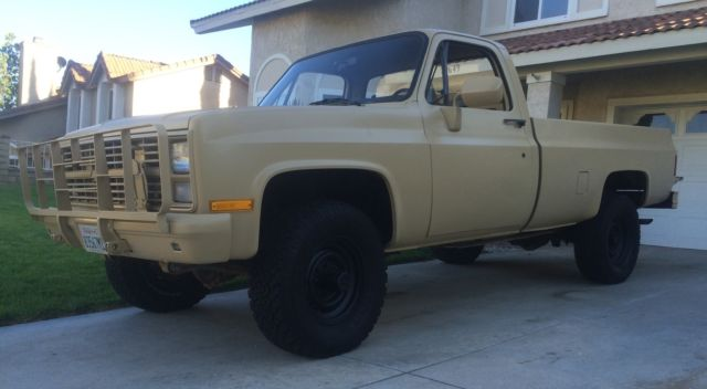 1986 Tan Chevy Military Truck 4x4 / M1008 / CUCV / K30 for