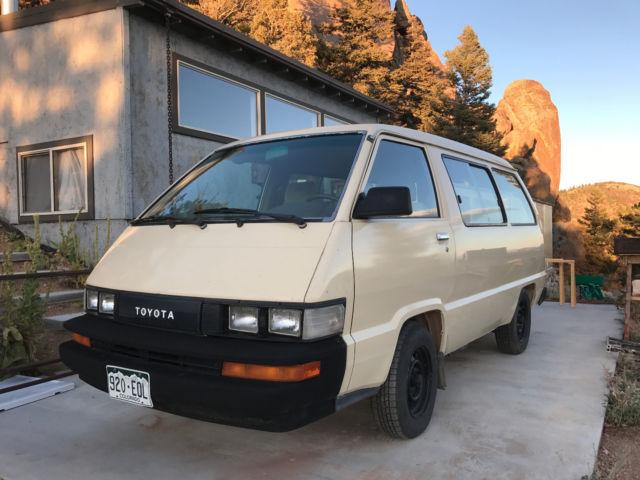 1986 Toyota Van Customized Cargo Edition For Sale Photos Technical