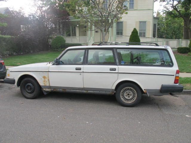 1986 Volvo 240 Gl Wagon White For Sale Photos Technical