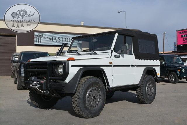 1986 white g wagon turbo diesel cabrio g class g series g500 mercedes benz for sale photos. Black Bedroom Furniture Sets. Home Design Ideas