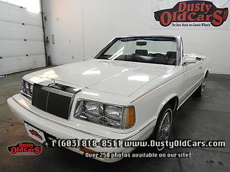1986 Chrysler LeBaron Runs Drives Interior Body All Excel Summer Cruiser
