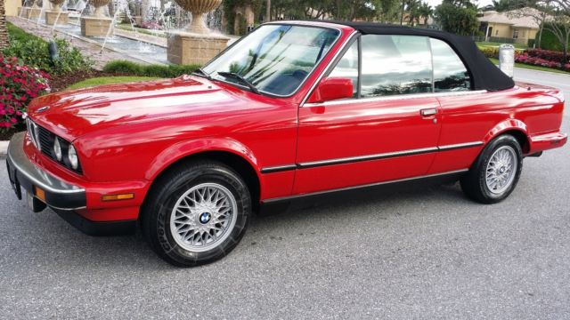 1987 1988 1989 bmw 325i 325ic convertible cabriolet red. Black Bedroom Furniture Sets. Home Design Ideas