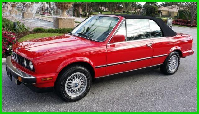 1987 bmw 325i convertible cabrio 1986 1988 red black no. Black Bedroom Furniture Sets. Home Design Ideas