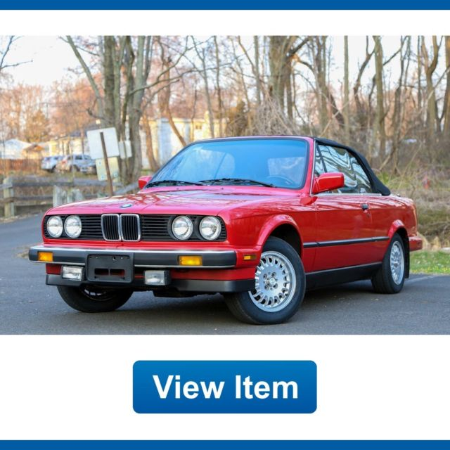 1987 BMW 3-Series E30 Convertible Sport 5Speed Manual Serviced CARFAX