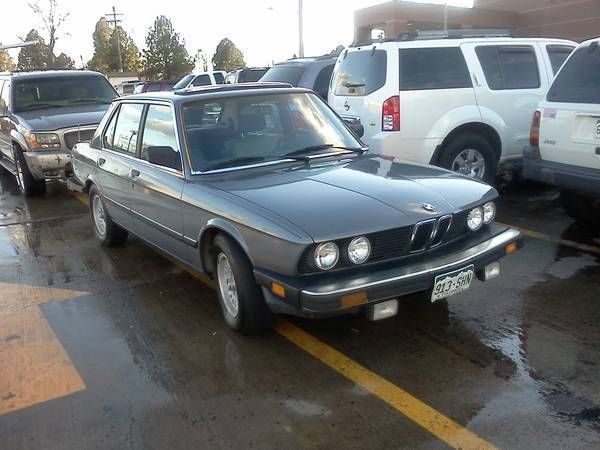 1987 Bmw 528e Base Sedan 4 Door 2 7l