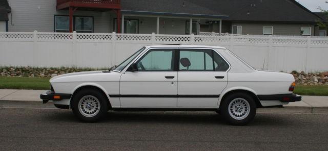 1987 Bmw 535i Sedan  E28  Original Paint   No Rust Ever