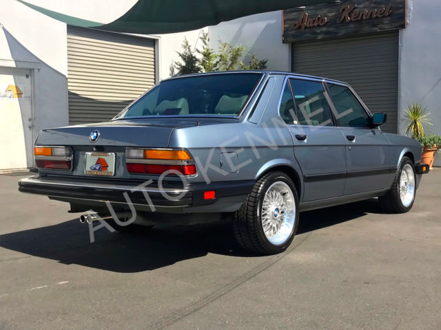 1987 bmw e28 535i m look w manual restoration 22k. Black Bedroom Furniture Sets. Home Design Ideas