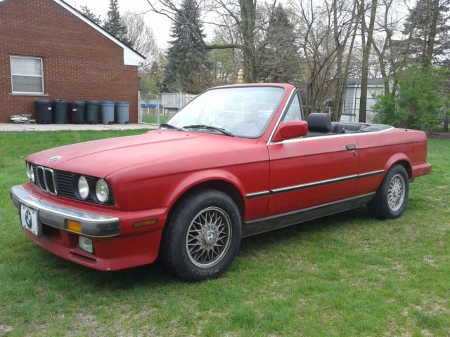 1987 BMW e30 325i Convertible, Low Miles, 5 Speed Manual, Very Good Condition