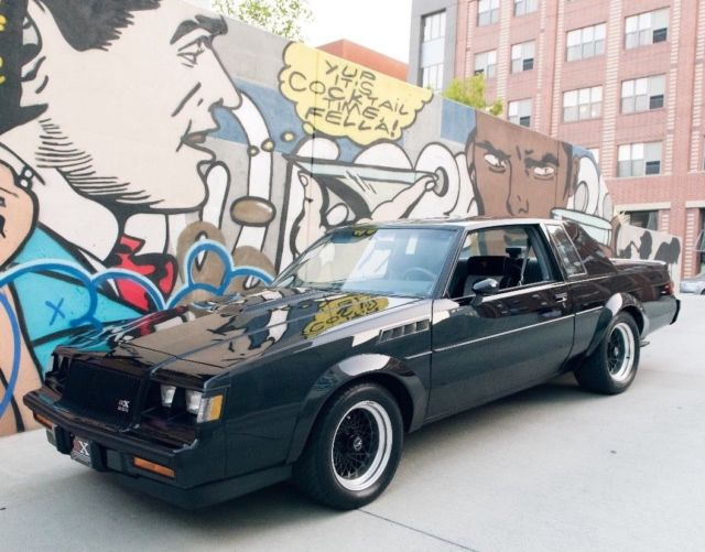 1987 Black Buick Grand National GNX Coupe with Black and Gray interior