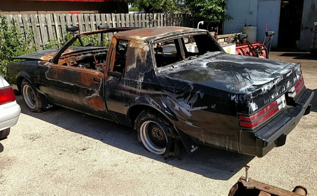 1987 buick grand national burnt insurance salvage vehicle for sale photos technical. Black Bedroom Furniture Sets. Home Design Ideas