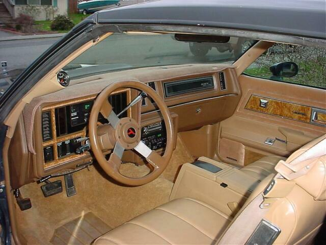 1987 Blue Buick Regal Coupe with Tan interior
