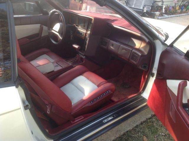 1987 Cadillac Alante Convertable Pearl White Custom