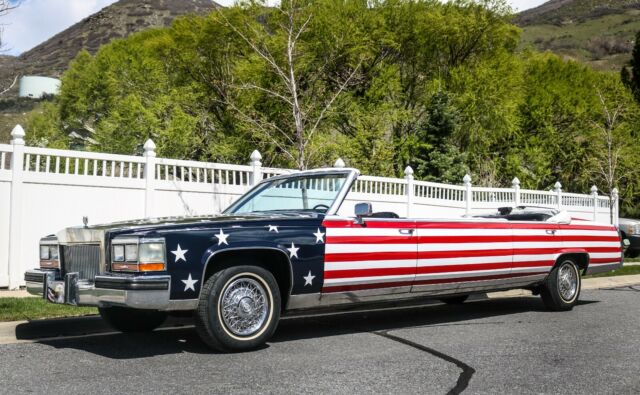 1987 Cadillac Brougham Limousine American Flag Paint Limo Fleetwood