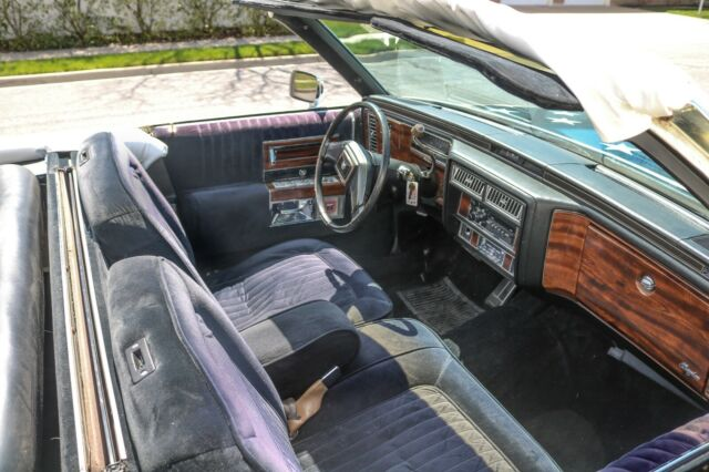 1987 Red, White and Blue Cadillac Brougham Limousine with Black interior