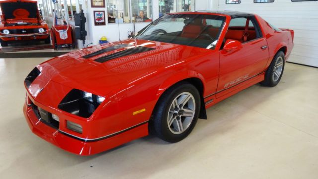 1987 Red Chevrolet Camaro Z28 -- with Red interior