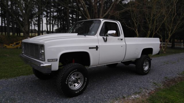 1987 White Chevrolet Other Pickups Standard Cab Pickup with Burgandy interior