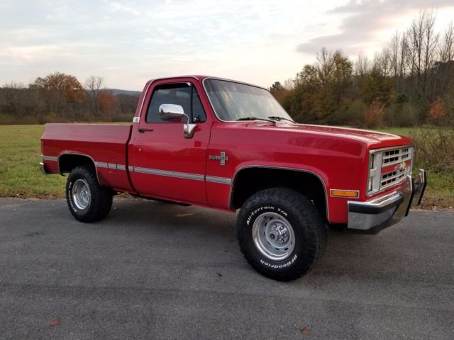 1987 Red Chevrolet C/K Pickup 1500 Standard Cab Pickup with Red interior