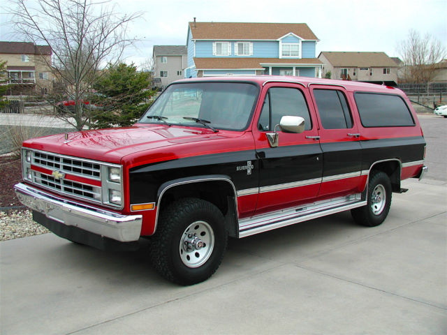 1987 Chevrolet Suburban Silverado 4x4 For Sale Photos
