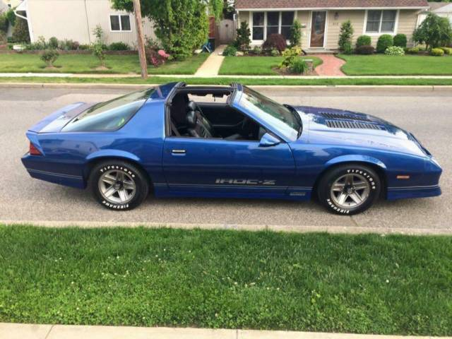 1987 chevy camaro iroc z blue t tops turn key car for sale. Black Bedroom Furniture Sets. Home Design Ideas