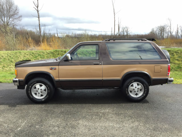 1987 chevy s10 blazer 4x4 2dr suv 2 8l v6 eng 90k actual miles 1owner rust free for sale