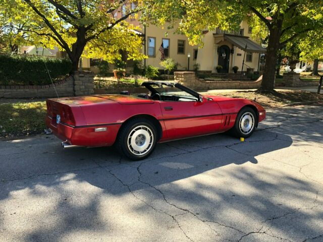 1987 Red Chevrolet Corvette Convertible with Red interior