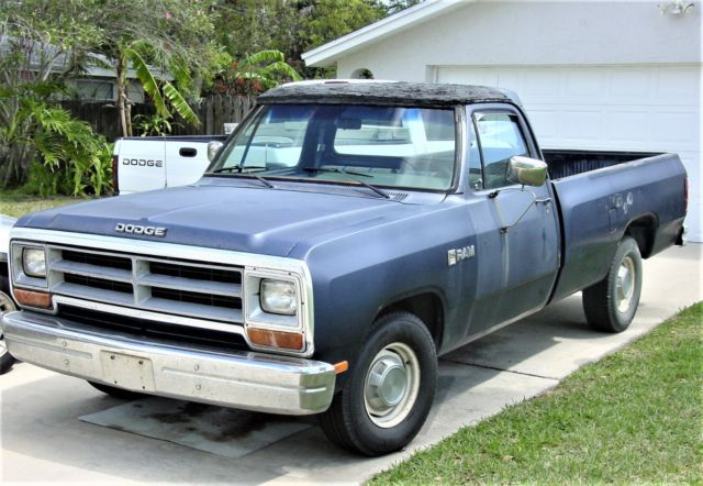 1987 Dodge Ram D100 Pickup Truck 225 Slant Six, Not Working for sale