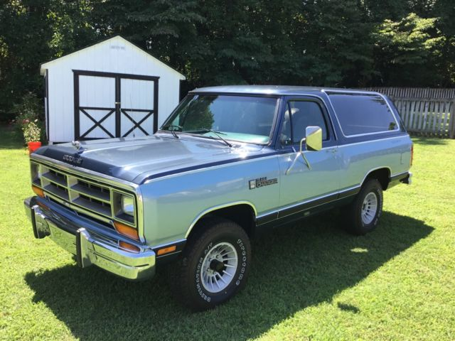 1987 Dodge Ramcharger Deluxe