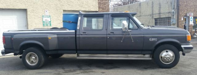 1987 ford f 250 4 door crew cab dually 8ft bed for sale photos technical specifications. Black Bedroom Furniture Sets. Home Design Ideas