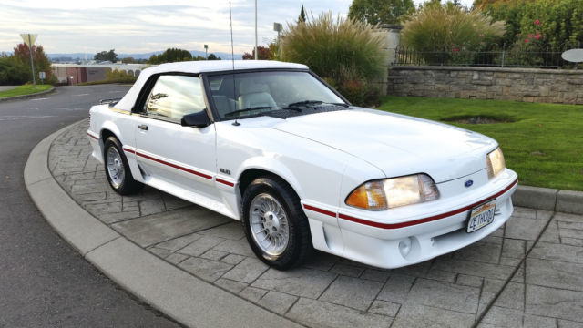 1987 ford mustang 5 0 gt convertible 76k original miles low reserve for sale photos technical. Black Bedroom Furniture Sets. Home Design Ideas