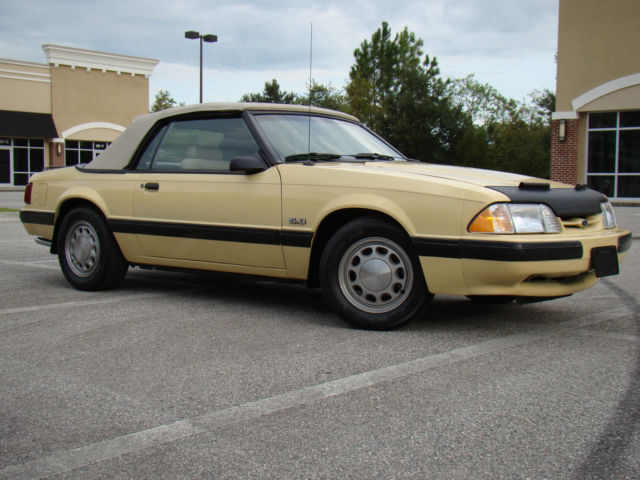 1987 Ford Mustang 5 0 Lx Convertible 1 Of 68 Rare Jonquil Medium Yellow