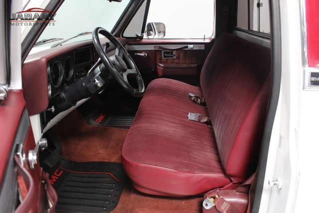 1987 White GMC 1/2 Ton Pickups Pickup Truck with Red interior