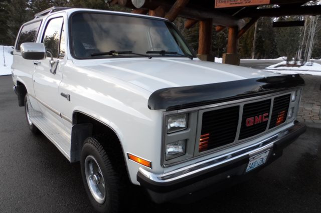 1987 GMC Jimmy One Owner 60k Mile Rust Free Survivor Fully Loaded