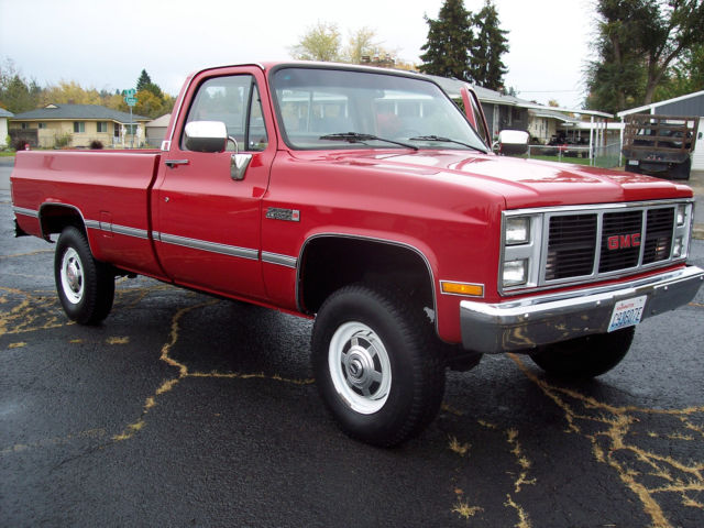 1987 Gmc Sierra Classic V2500 K20 3 4 Ton 4x4 For Sale