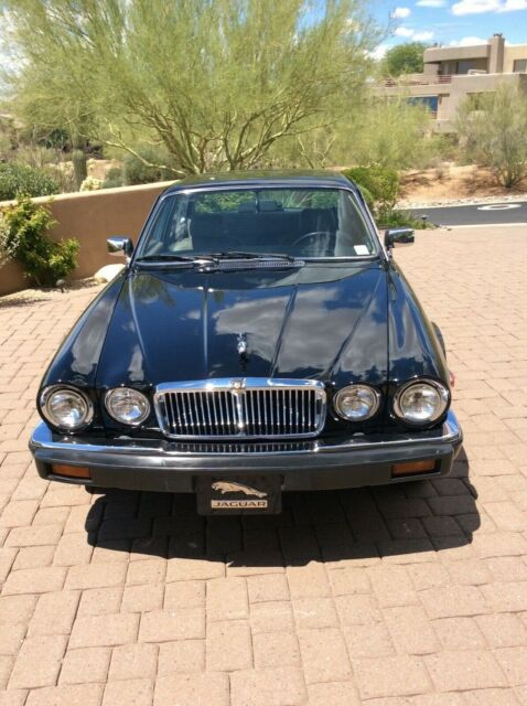 1987 Black Jaguar XJ6 Sedan with Tan & Black interior