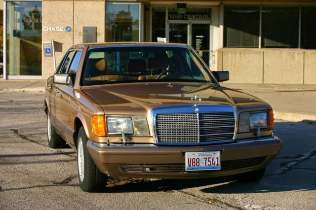 1987 mercedes benz 420 sel gold sedan for sale photos for Gold mercedes benz price