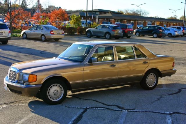 1987 mercedes benz 420 sel gold sedan for sale photos for 1987 mercedes benz 420sel