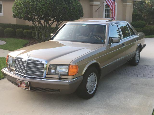 1987 Mercedes Benz 560 SEL Orginial Paint Garaged Florida Car 74K