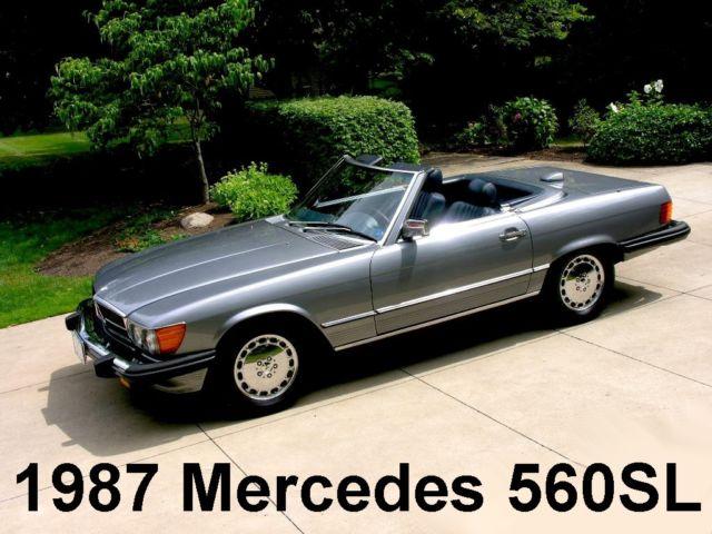 1987 Mercedes Benz 560sl Hardtop Convertible Roadster Chrome Wheels