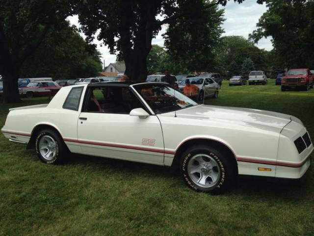 1987 monte carlo ss t tops white great condition for sale photos technical specifications. Black Bedroom Furniture Sets. Home Design Ideas