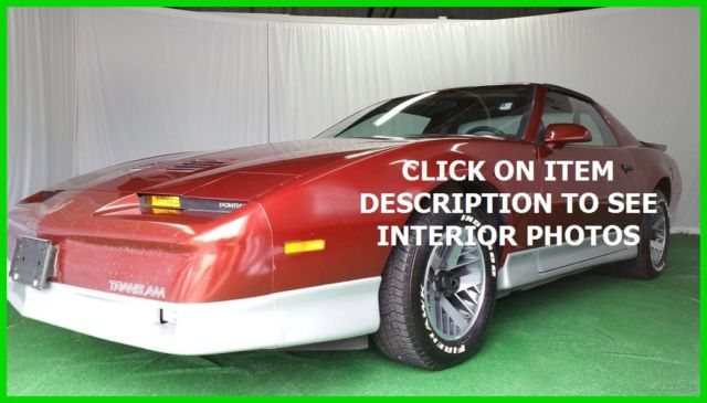 1987 Pontiac Firebird Trans Am ONLY 52K MILES FLORIDA NO RESERVE!!