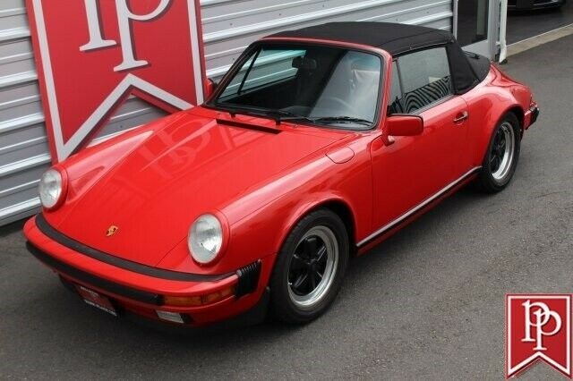 1987 Red Porsche 911 Carrera Cabriolet Convertible with Black interior