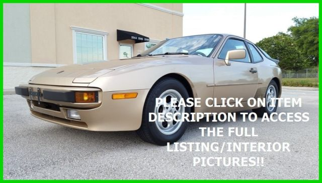1987 Porsche 944 ONE OF A KIND ALL ORIGINAL FLORIDA NO RESERVE!!
