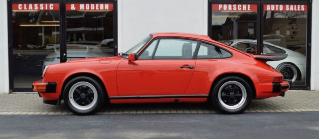 1987 Guards Red Porsche 911 Coupe with Black interior