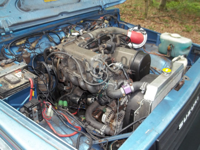 1987 Suzuki Samurai Jx With Sidekick 1 6 16v Professional Install Engine Upgrade For Sale