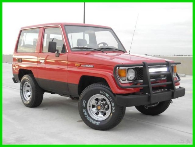 1987 Toyota Land Cruiser RARE 2 DR. 2.0L TURBO DIESEL 4X4 5 SPD MANUAL FLOR