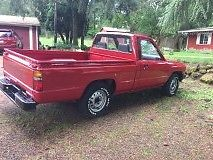 1987 RED Toyota Tacoma Cab & Chassis with Gray interior