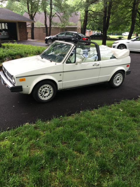1987 Volkswagen Cabriolet Convertible 35k 5 Sd Manual One Owner