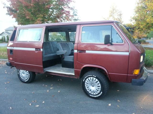 1987 volkswagen vanagon syncro tintop 4wd 90k original. Black Bedroom Furniture Sets. Home Design Ideas